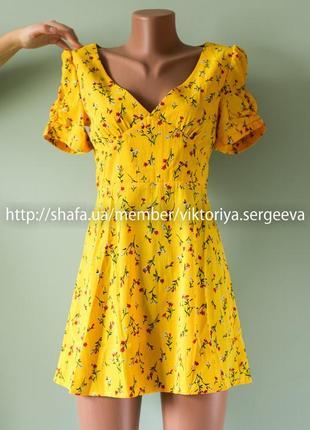 Большой выбор платьев - новое яркое платье в цветы на маленькую худенькую девушку