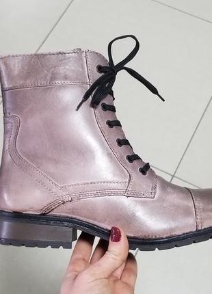 Зимние ботинки,красивый цвет пепельный-пурпурный розовый