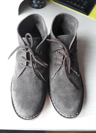Ботинки демисезонные натуральная замша размер 43, 5