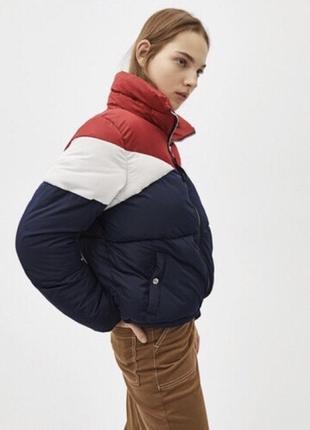 Куртка зима пуховик bershka