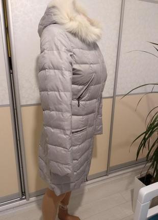 Натуральный пуховик!куртка пальто парка курточка пух