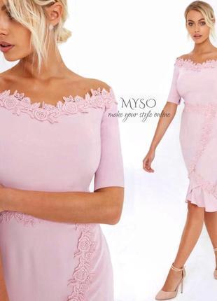 Элегантное платье нежно-розового цвета paperdolls