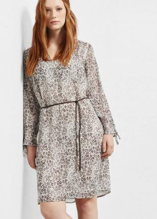 Леопард - тренд сезона- платье манго виолетта , р.хл, пог 58 см -скидка к новому году