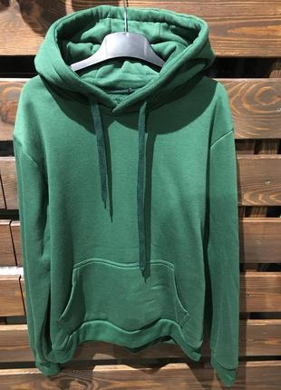 40a13042 Женская толстовка зелёная тёплая на флисе с капюшоном флис, цена ...