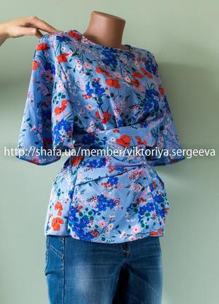 Большой выбор блуз - безумно красивая блуза с завязками3 фото