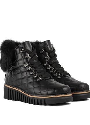 403цз женские ботинки attico,кожаные,на танкетке,на низком ходу,на толстой подошве