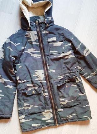 Парка женская хаки защитного утепленная теплая куртка пальто