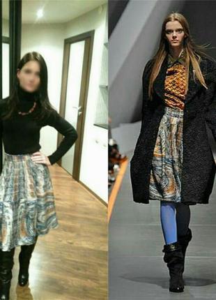 Роскошная юбка basso&brooke италия подиум хс/с