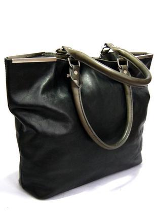 Дизайнерская большая кожаная сумка на плечо kenneth cole. сша