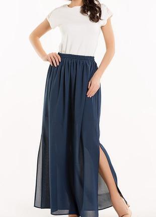 Длинная полупрозрачная юбка