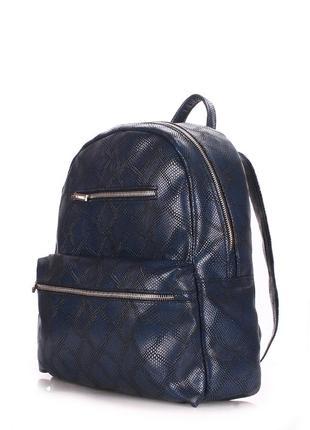 Молодежный модный рюкзак кожаный в змеиный принт