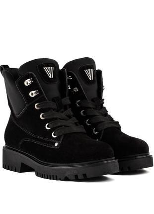 387цз женские ботинки attico,замшевые,на низком каблуке,на низком ходу,на толстой подошве