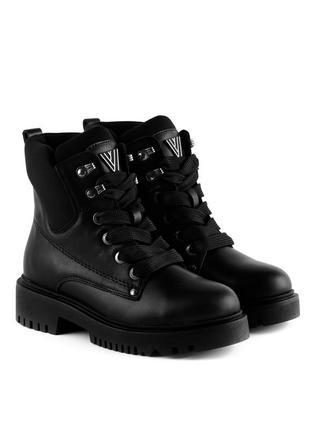385цз женские ботинки attico,кожаные,на низком каблуке,на низком ходу,на толстой подошве