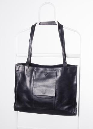 Чёрная кожаная сумка joop