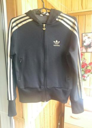 Спортивная кофта мастерка оригинал адидас капюшон молния adidas originals олимпийка худи