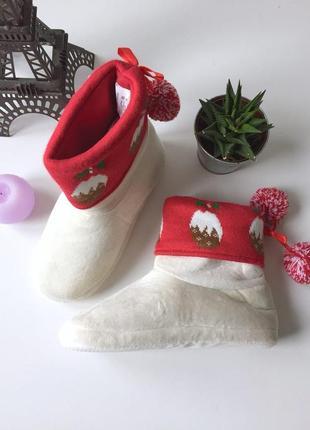 Новогодние теплые мягкие уги для дома