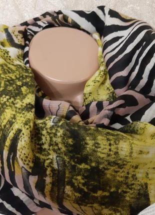 Красивый большой разноцветный снуд, хомут,шарф  pieces (дания)
