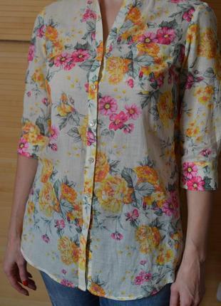 Котоновая длинная блузка bershka