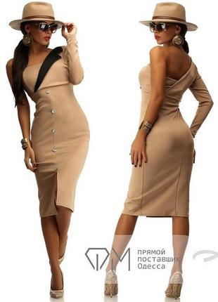 Супер стильное платье длиной миди с одним рукавом!