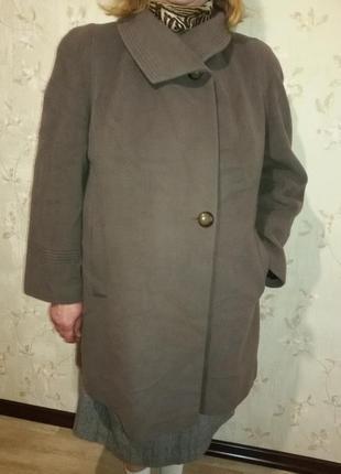 Легкое кашемировое пальто италия (пог-63 см)