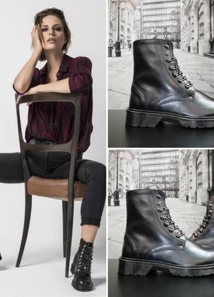 Безумно крутые ботинки из натуральной кожи paola firenze®, р. 37, 38, 39, 40, 41