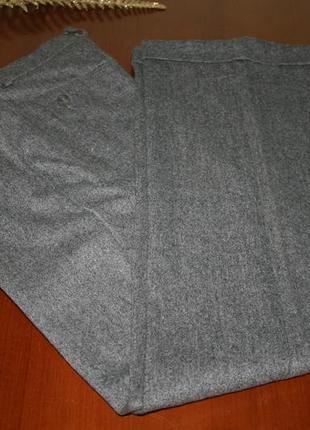Элегантные серые шерстяные брюки