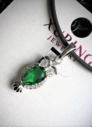 Брендовая ювелирная бижутерия xuping jewelry на каждый день!подвеска с фианитами на шнурке