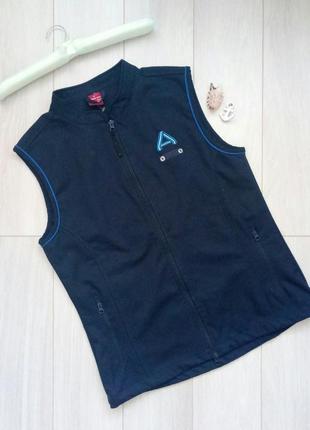 Тёмно-синяя спортивная жилетка на молнии м