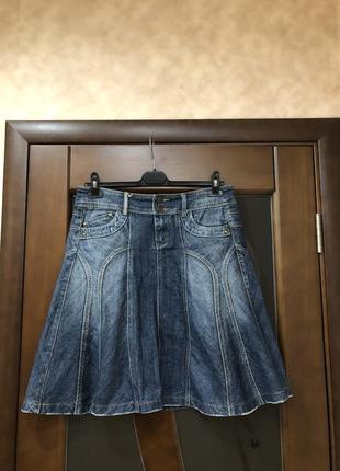 Крутая джинсовая юбка promod на наш 50. супер!