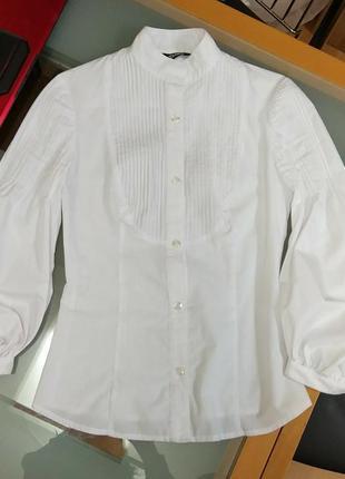 Белая блуза блузка рубашка tago 42 р