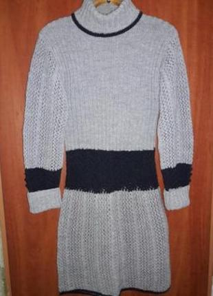 Туника, гольф, вязанное платье