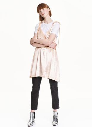 Платье платье-комбинация вискоза с шелком h&m новое