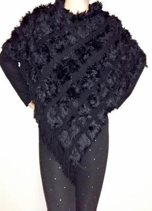 Мягкий и теплый шарф-пончо one size