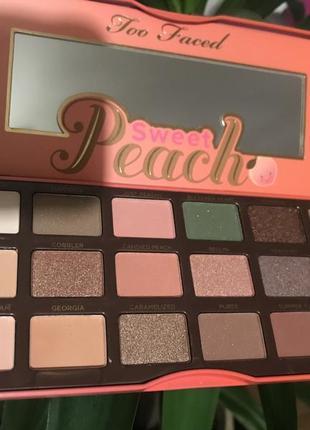 Тени too faced peach