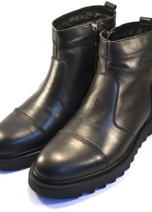 Большой размер челси зимние мужские ботинки rosso avangard bs danni ridge black черные