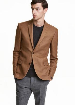 Пиджак из текстурной шерсти h&m 384415