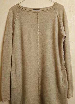 Кашемировый свитер удлиненный moscow