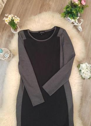 Стильное облегающее платье с контрастными вставками от reserved