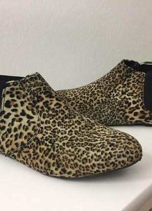 Ботинки челси atmosphere леопард трендові черевики атм