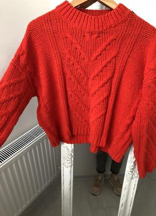 Стильный плюшевый свитер синель