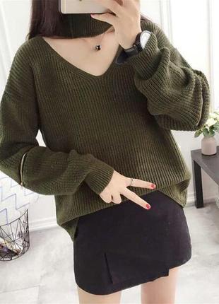 Шикарный свитер вязка