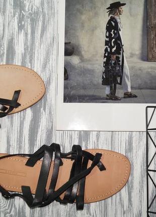 (40/26см) esprit! кожа! стильные гладиаторы, сандалии, босоножки