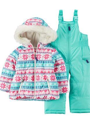 Комбинезон 2в1 зимний для девочки картерс (куртка+штаны)  распродажа