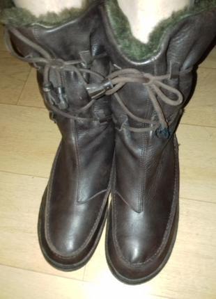 Сапоги кожаные зимние camper 26 см