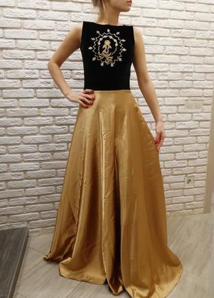 Вечернее платье! платье в пол  на корпоратив, новый год, праздничное, нарядное!