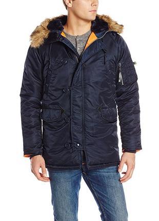 Зимняя куртка-парка alpha industries n-3b slim-fit parka. размер - xs - s.