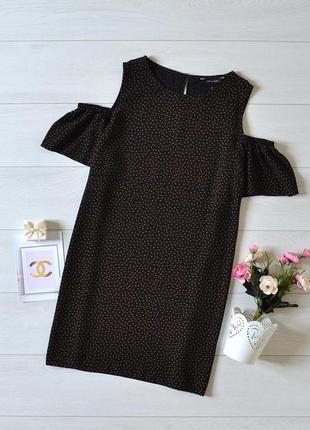 Чудове плаття в горох відкриті плечі new look.
