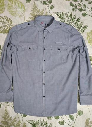 Брендовая рубашка в клетку f&f