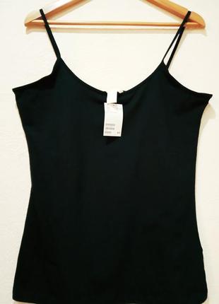 Базовый топ h&m, цвет черный