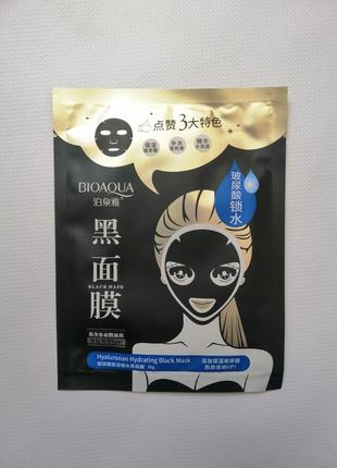 Тканевая маска bioaqua hyaluronan hydrating black mask